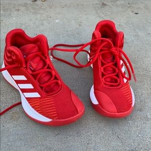 Adidas hightop basket ball shoes